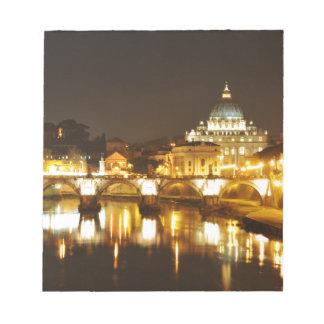 Bloco De Notas Cidade do Vaticano, Roma, Italia na noite