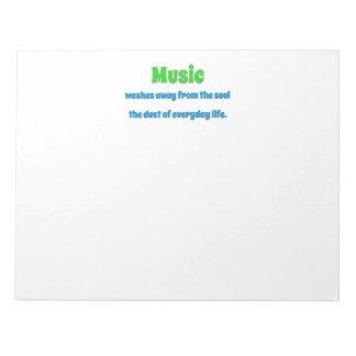 Bloco De Notas Citações da música - a música lava longe do th da