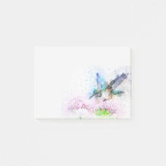 Bloco De Notas Colibri azul abstrato da aguarela