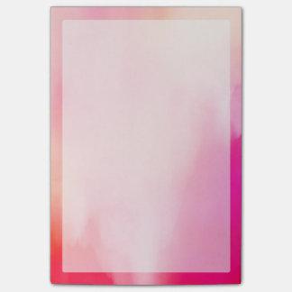 Bloco De Notas Colorido alaranjado coral do rosa abstrato da