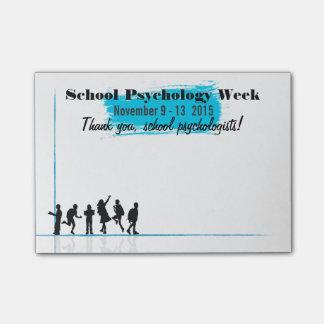 Bloco De Notas Comemorando post-it da semana 2015 da psicologia
