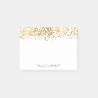 Bloco De Notas Confetes chamativos do ouro