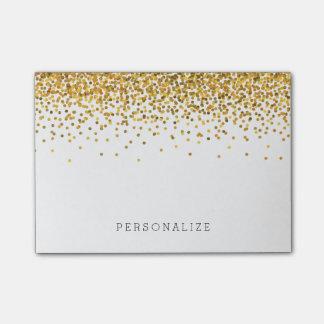 Bloco De Notas Confetes do ouro