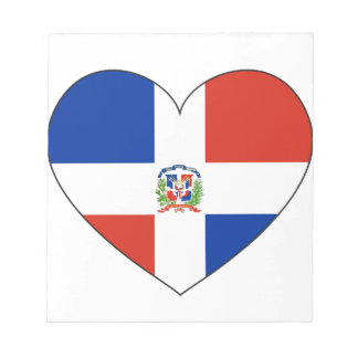 Bloco De Notas Coração da bandeira da República Dominicana
