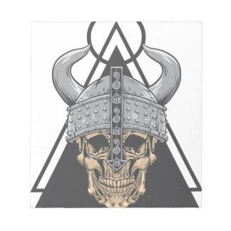 Bloco De Notas Crânio de Viking