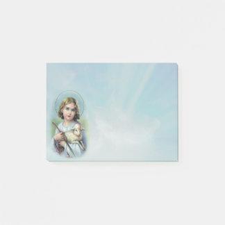 Bloco De Notas Criança Jesus com cordeiro