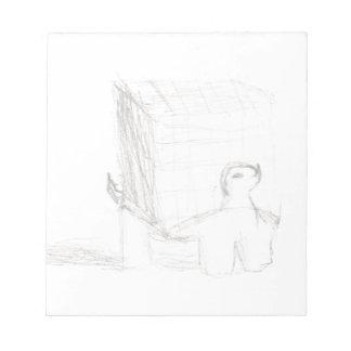 Bloco De Notas cubo da tartaruga de caixa que tira Eliana