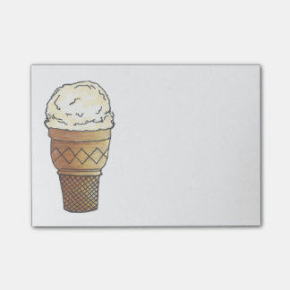 Bloco De Notas Da colher de creme do cone de Vanilla Ice post-it