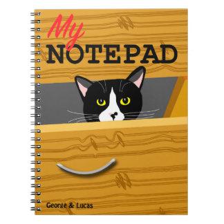 Bloco de notas da foto de George e de Lucas Caderno