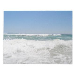 Bloco de notas das ondas de oceano