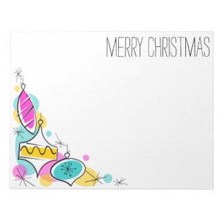 Bloco de notas de canto do Natal dos Baubles