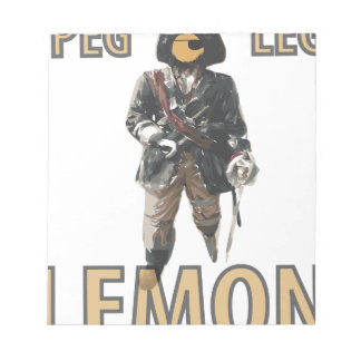 """Bloco De Notas De """"limão do pé Peg"""" do pirata"""