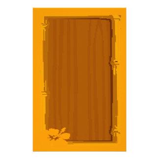bloco de notas de madeira do conselho da nota papelaria