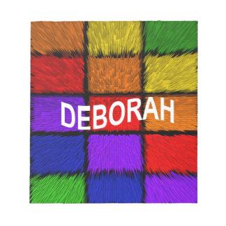 BLOCO DE NOTAS DEBORAH