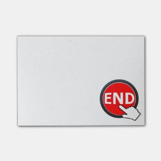Bloco De Notas Dedo no botão