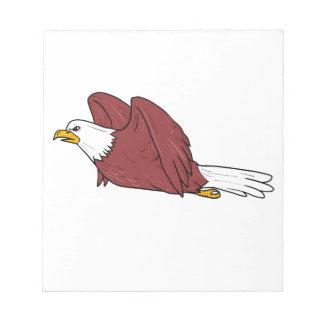 Bloco De Notas Desenhos animados do vôo da águia americana