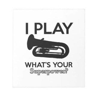 Bloco De Notas design da tuba
