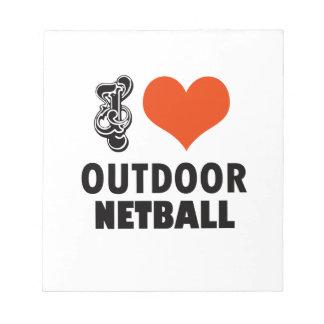 Bloco De Notas Design do Netball