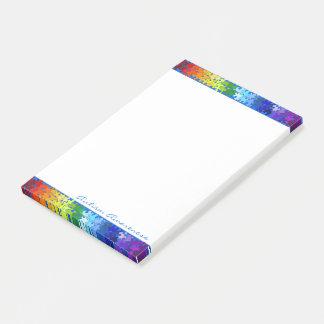 Bloco De Notas Design do quebra-cabeça do arco-íris da