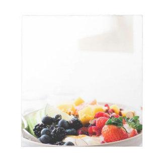 Bloco De Notas Dieta da nutrição do petisco da comida de pequeno