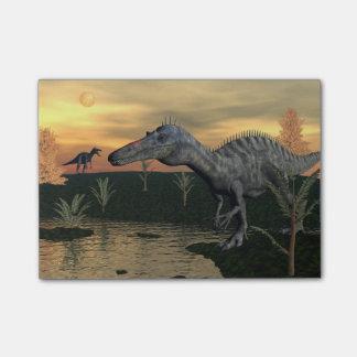 Bloco De Notas Dinossauros de Suchomimus - 3D rendem