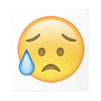 Bloco De Notas Disappointed mas aliviado - Emoji