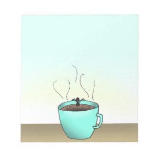"""Bloco De Notas Do """"almofada de nota do tempo café"""" de Terence"""
