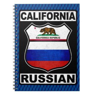 Bloco de notas do americano do russo de Califórnia Caderno Espiral