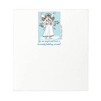 Bloco de notas do anjo do Natal do canto
