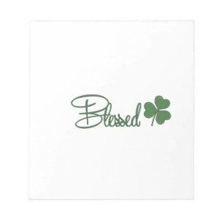 Bloco De Notas ☘ do design do dia de St Patrick abençoado