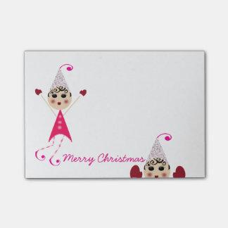 Bloco De Notas do Feliz Natal dos duendes de PinQshue