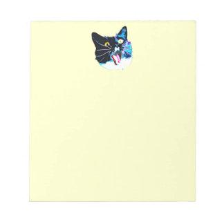 Bloco de notas do gato