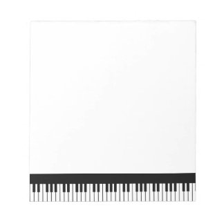 Bloco de notas do teclado de piano