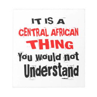 BLOCO DE NOTAS É DESIGN DA ÁFRICA CENTRAL DA COISA