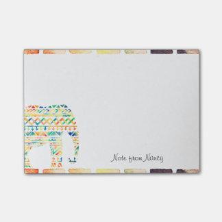 Bloco De Notas Elefante tribal bonito do design