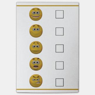 Bloco De Notas Emoticon da verificação do humor do estilo 3d