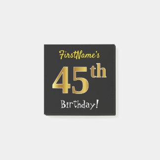 Bloco De Notas Enegreça, aniversário do ouro do falso 45th, com