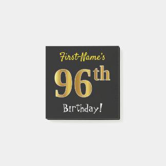 Bloco De Notas Enegreça, aniversário do ouro do falso 96th, com