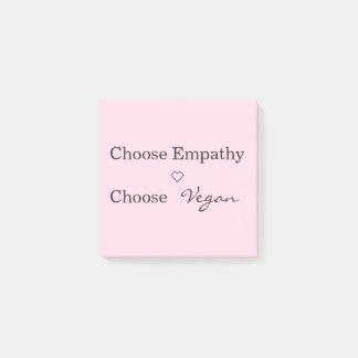 Bloco De Notas Escolha a empatia, escolha o Vegan