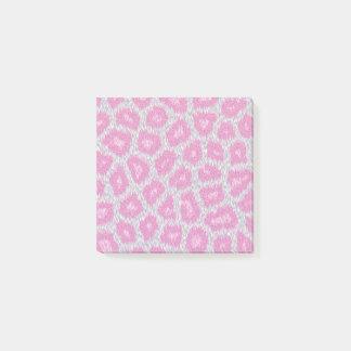 Bloco De Notas Estilo do leopardo de neve - rosa de prata