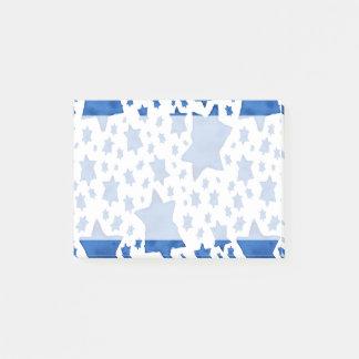 Bloco De Notas Estrela de David azul da aguarela