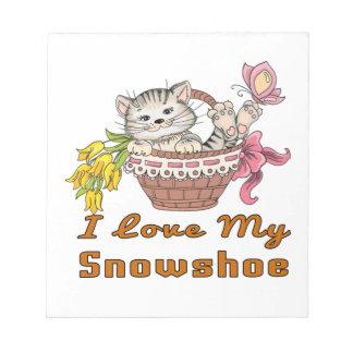 Bloco De Notas Eu amo meu sapato de neve