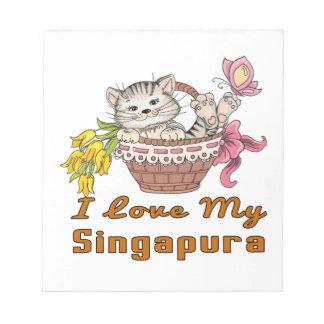 Bloco De Notas Eu amo meu Singapura