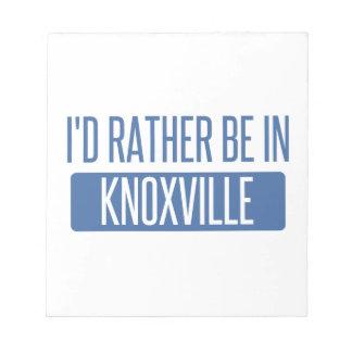 Bloco De Notas Eu preferencialmente estaria em Knoxville