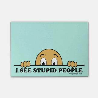 Bloco De Notas Eu ver pessoas estúpidas