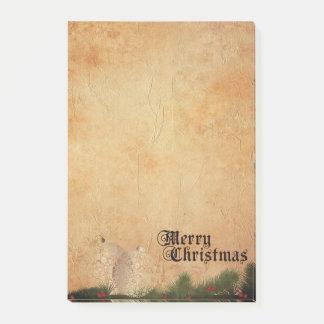 Bloco De Notas Feliz Natal do vintage