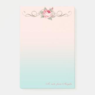 Bloco De Notas Feminino bonito adorável, Rosa-Personalizado