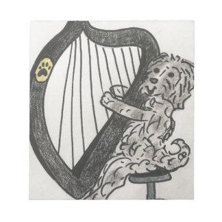 Bloco De Notas Filhote de cachorro da harpa