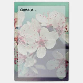Bloco De Notas Flor de cerejeira cor-de-rosa, Cherryblossom,