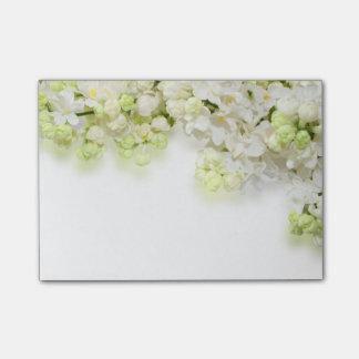 Bloco De Notas Flores Cargo--Nota-Brancas